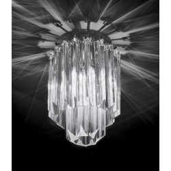 Glass pendants ceiling lamp 464/CR/SPOT/Q/VT