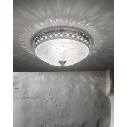 Glass ceiling lamp with strass 472/PL45/CR