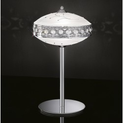 Glass table lamp with strass 472/LT/CR