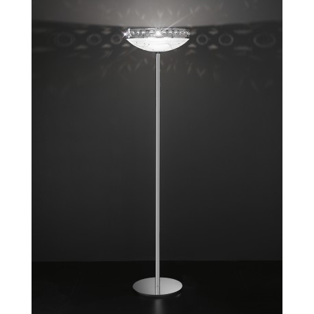 Glass floor lamp with strass 472/PT/CR