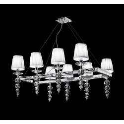 Glass chandelier with strass 493/S8