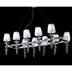 Glass chandelier with strass 493/S10