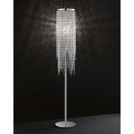 Floor lamp with Asfour crystal 660/PT3/CR/ASF