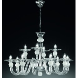 Murano artistic glass chandelier 1153/8+4
