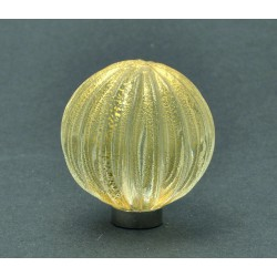 Murano glass Knobs SFERA RIGADIN ORO 1520