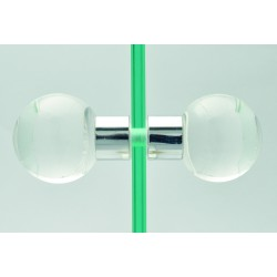 Murano glass couple knobs in crystal SFERA 120-2