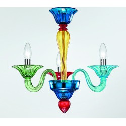 Murano artistic glass chandelier 1191/3PL