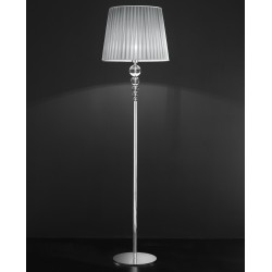 Floor lamp with crystal spheres 239/PT/CR