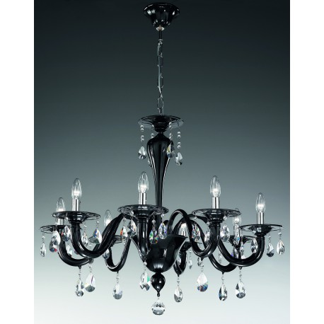 "Murano glass artistic chandelier Artital ""Sospiri"" 8 lights"