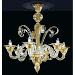 Murano artistic glass chandelier 993/PL6
