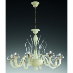 "Murano glass artistic chandelier Artital ""Bucintoro"" 8 lights"