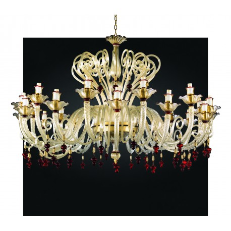 Murano Glass Chandelier Tf 1015 Ch 24 Artital Lighting