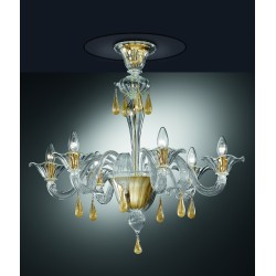Murano artistic glass chandelier 1181/PL6