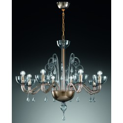 Murano artistic glass chandelier