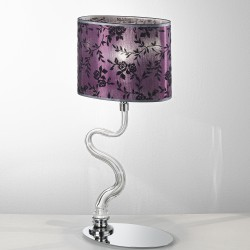 Table lamp with Venetian Glass and lampshade