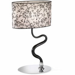 Table lamp with black Venetian Glass and lampshade