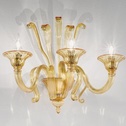 Amber Venetian artistic glass wall lamp 1004/A3