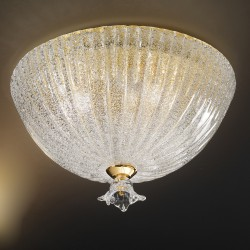Artistic clear crystal glass ceiling lamp hand made in Venice 523PL40