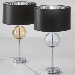 Table lamp with blown glass and lampshade 1030/LP