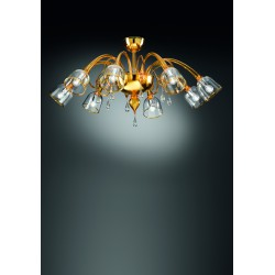 Murano glass artistic ceiling lamp 1200/8PL