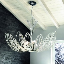 GIRASOLE 0840/S Crystal suspension lamp