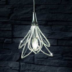 GIRASOLE 0840/S1 Crystal suspension lamp