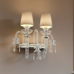 INTRECCI 1300/APP Glass wall lamp with lampshades