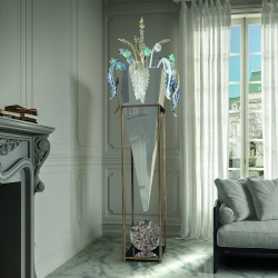INTRECCI 1320/LT Murano glass floor lamp