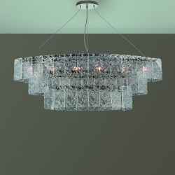 GLACE 4100/S Suspension lamp in crystal