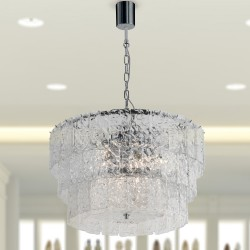 GLACE 4110/S65 Suspension lamp in Murano crystal