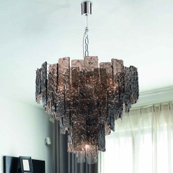 GLACE 4115/S60 Suspension lamp in Murano crystal
