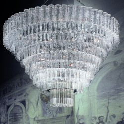 GLACE 4121/170 Suspension lamp in Murano crystal