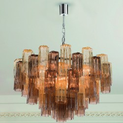 GLACE 4150/S60 Suspension lamp in Murano crystal