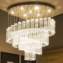 GLACE 4160 Suspension lamp in Murano crystal