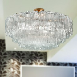 GLACE 4170/PL65 Suspension lamp in Murano crystal
