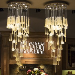 GLACE 4260/60 Suspension lamp in Murano crystal