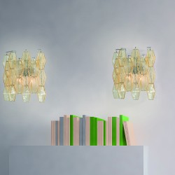 GLACE 4610/APP Wall lamp in Murano crystal