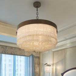 VENEZIA 4800/S60 Suspension lamp with Venetian glass beads