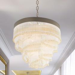 VENEZIA 4805/S80 Suspension lamp with Venetian glass beads