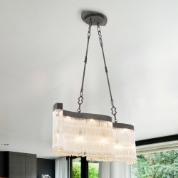 VENEZIA 4810/S Suspension lamp with Venetian glass beads