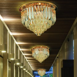 CRISTALLI 5030/PL45 Ceiling lamp with Murano crystal pendants
