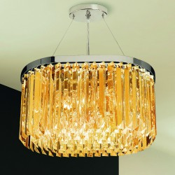 CRISTALLI 5078/S Suspension lamp with Murano crystal pendants