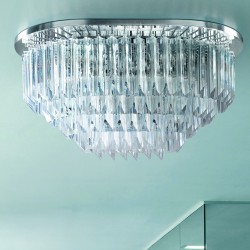 CRISTALLI 5032/PL Ceiling lamp with Murano crystal pendants