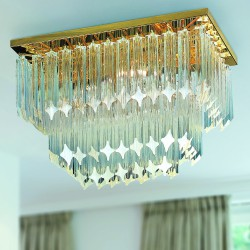 CRISTALLI 5045/PL Ceiling lamp with Murano crystal pendants
