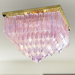 CRISTALLI 5050/PL45 Ceiling lamp with Murano crystal pendants