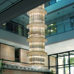 CRISTALLI 5015/70 Suspension lamp with Murano crystal pendants