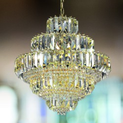 CRISTALLI 6015/60 Suspension lamp with Murano crystal pendants