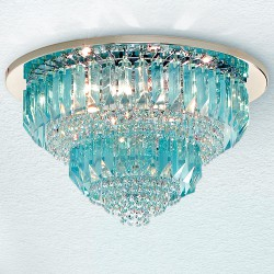 CRISTALLI 6014/PL45 Ceiling lamp with Murano crystal pendants
