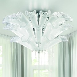 PETALI 9007/PL2 Ceiling lamp in Murano glass