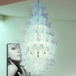 PETALI 9008/65 Suspension lamp in Murano glass